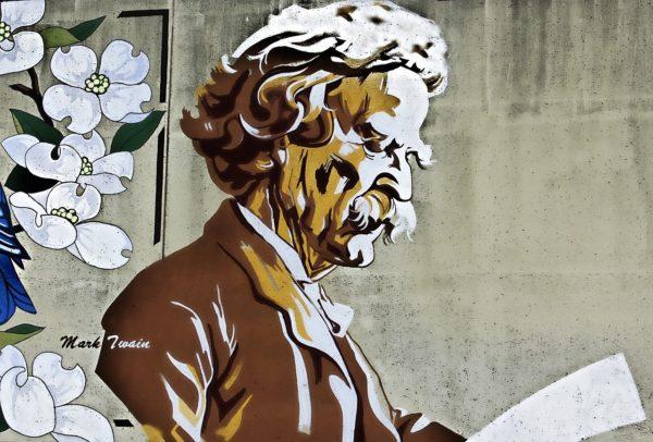 mark twain, painting, book